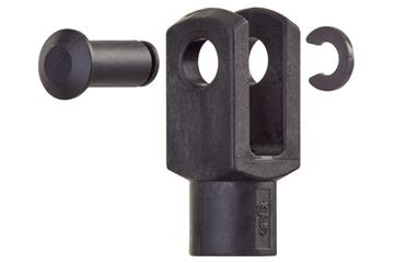 Clevis joint with pin and circlip, GERMK, igubal®