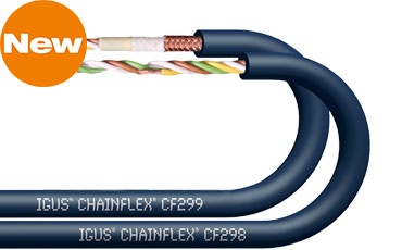 TPE data cables chainflex CF298 and CF299